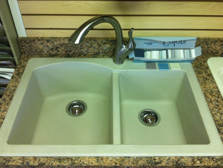 Yurkovic Plumbing is proud to carry Swanstone solid surface products for kitchen or bathroom.